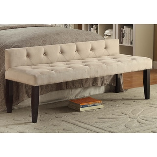 Furniture of America Jazari Modern Linen 64-inch Accent Bench