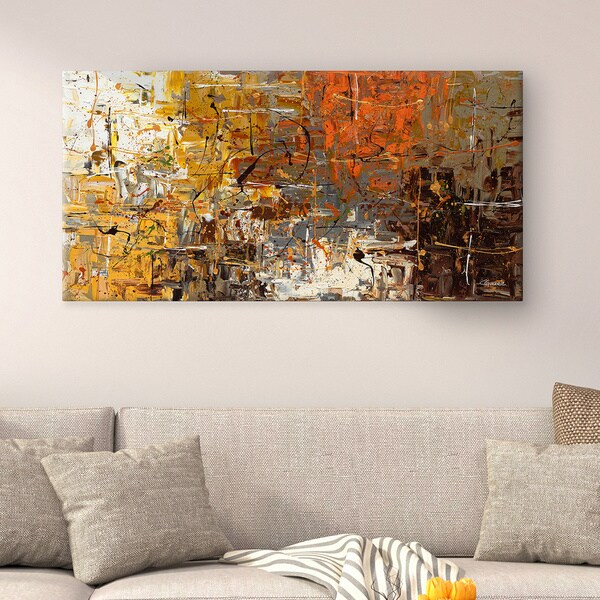 Shop Carmen Guedez \'The More the Merrier\' Canvas Wall Art (24 x 48 ...