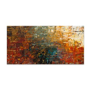 Carmen Guedez 'Gold Splash' Canvas Wall Art (24 x 48)