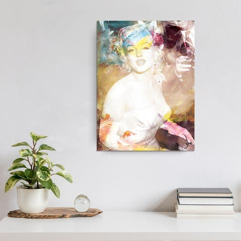 Marilyn' Abstract Wrapped Canvas Wall Art