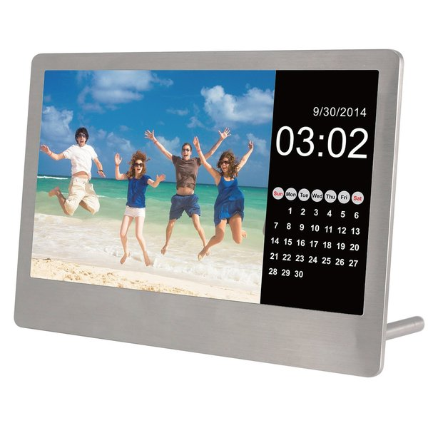 Shop Sylvania Sdpf7977 7 Inch Stainless Steel Digital Photo Frame
