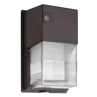 Lithonia Lighting TWS LED 1 50K 19 Watts 120 PE M4 Bronze Dusk to Dawn Integrated Outdoor LED Wall Pack