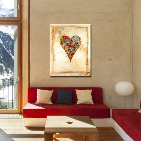 Newbella' Heartwork Wrapped Canvas Wall Art