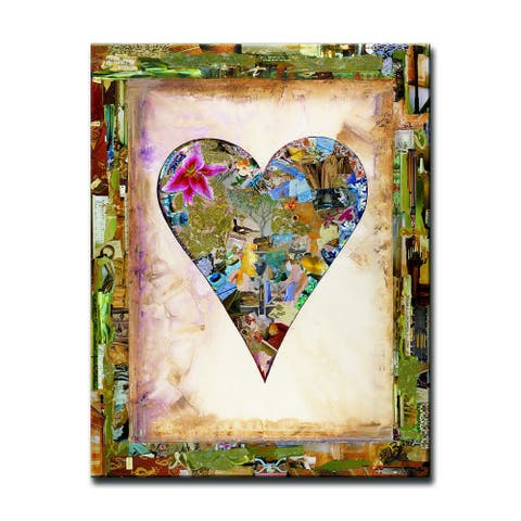'Nature Heart' Heartwork Wrapped Canvas Art