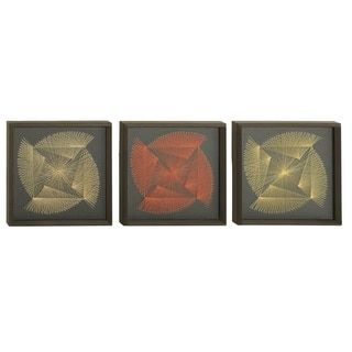 Handcrafted Modern Abstract String Art - 3 Piece Set