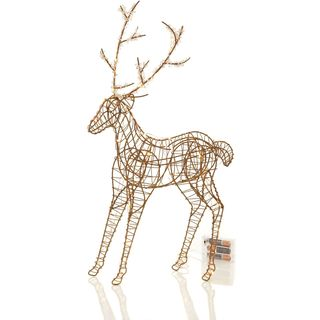 "Textures and Patterns Collection 20"" Wire Deer with 50 LEDs Pack of 2"