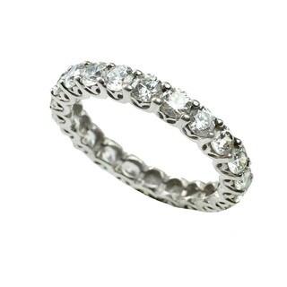 Michael Valitutti Cubic Zirconia Eternity Ring