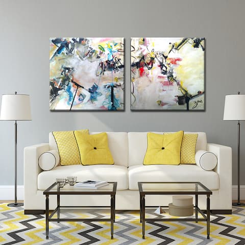 Abstract XIII' Wrapped Canvas Wall Art