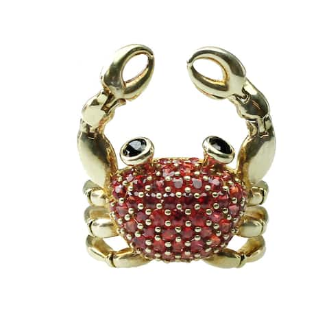 Gems en Vogue Cubic Zirconia Crab Ring
