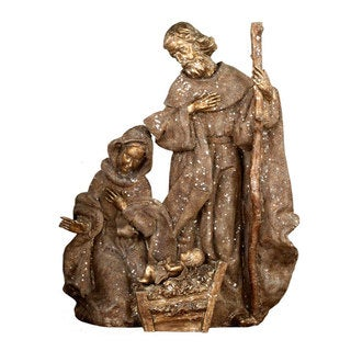"""Chateaux Collection 22"""" Resin Glittered Holy Family Pack of 1"""