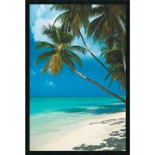 Framed Art Print Tropical Beach (Palm Tree) 26 x 38-inch