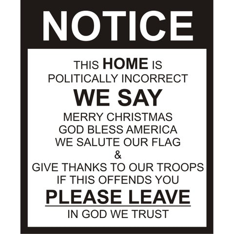 Design on Style 'Notice in Our Home We Say' Vinyl Wall Art Decor Lettering