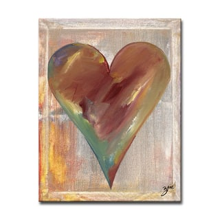 Carter' Heartwork Wrapped Canvas Wall Art