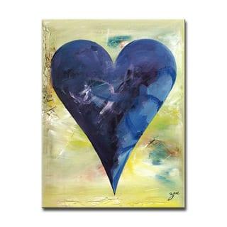 Barcelona' Heartwork Wrapped Canvas Art