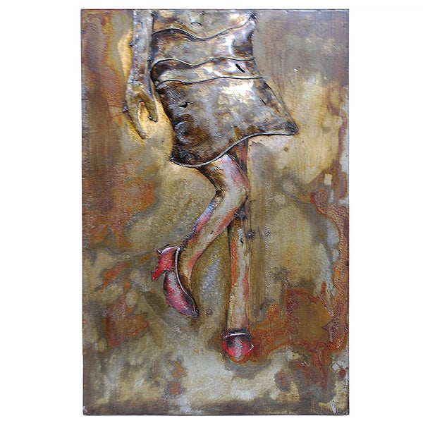Modern Metal Art Wall Sculpture Home Decor Girl