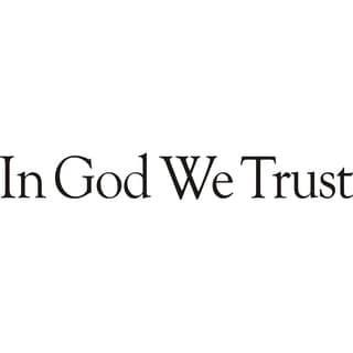 Design on Style 'In God We Trust' Vinyl Wall Art Lettering Decor