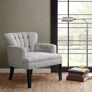 Madison Park Gianna Light Grey Tufted Club Chair