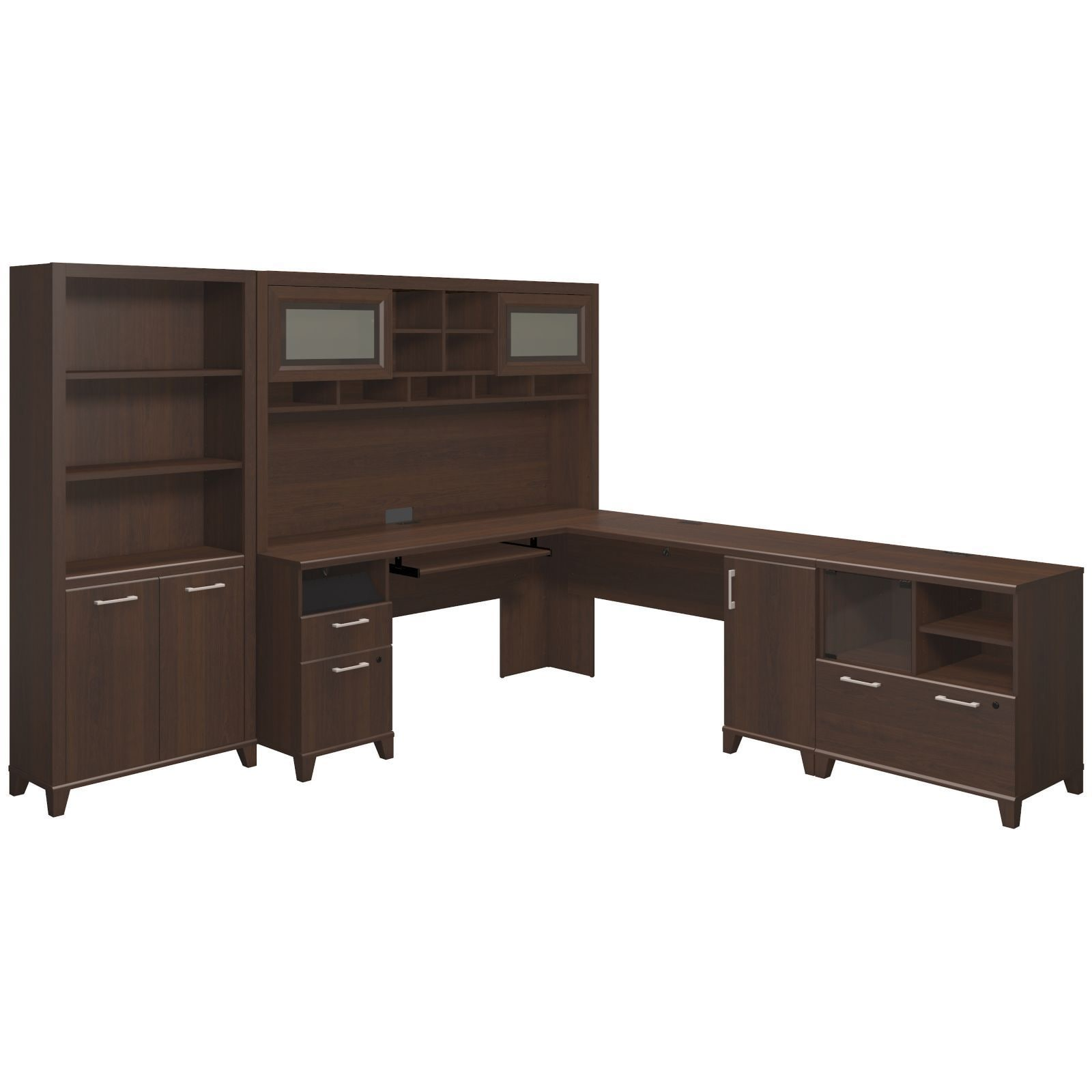 Achieve L Shaped Desk With Hutch Bookcase And