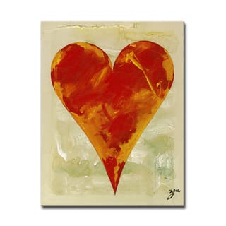 Bailee' Heartwork Wrapped Canvas Wall Art
