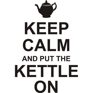 Design on Style 'Keep Calm and Put The Kettle On' Vinyl Wall Art Lettering
