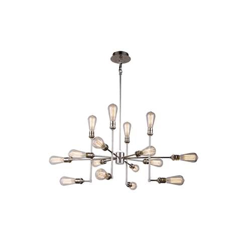 Elegant Lighting Ophelia Collection 1139 Pendant Lamp with Polished Nickel Finish