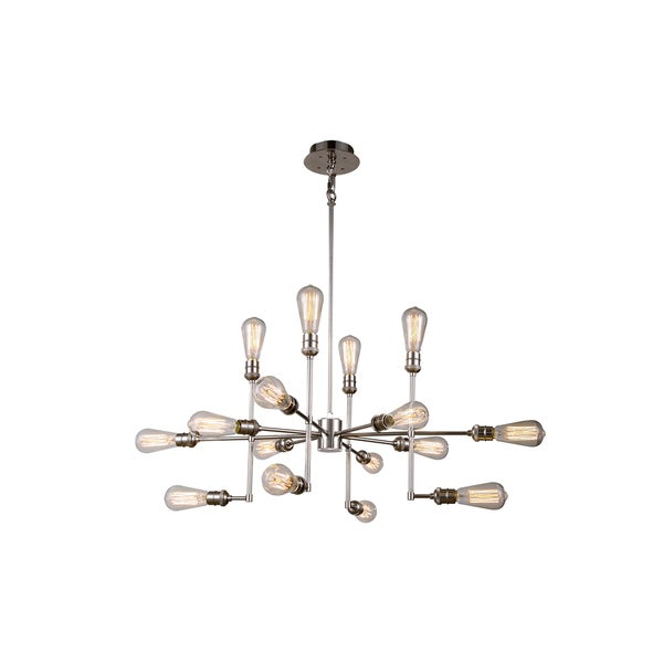 Elegant Lighting Ophelia Collection 1139 Pendant Lamp with Polished Nickel Finish. Opens flyout.