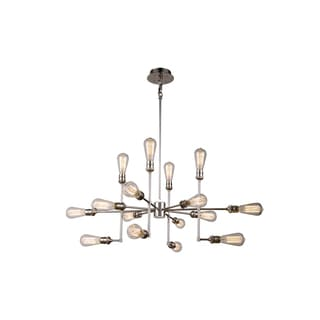 Elegant Lighting Ophelia Collection 1139 Pendant Lamp with Polished Nickel Finish