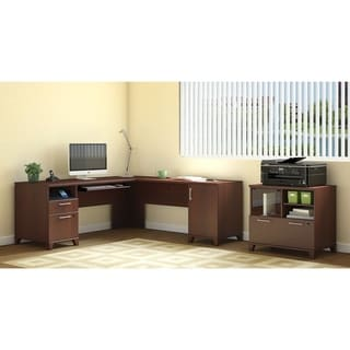 Bush Achieve L Desk with Lateral File/Printer Stand
