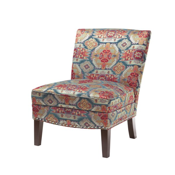 Madison Park Alex Curved Back Slipper Chair  Red