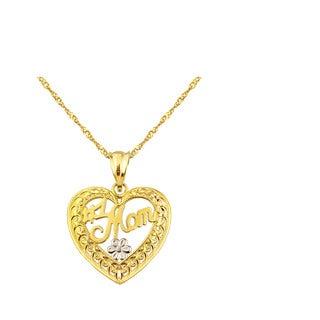 10k Yellow Gold #1 MOM Charm Pendant