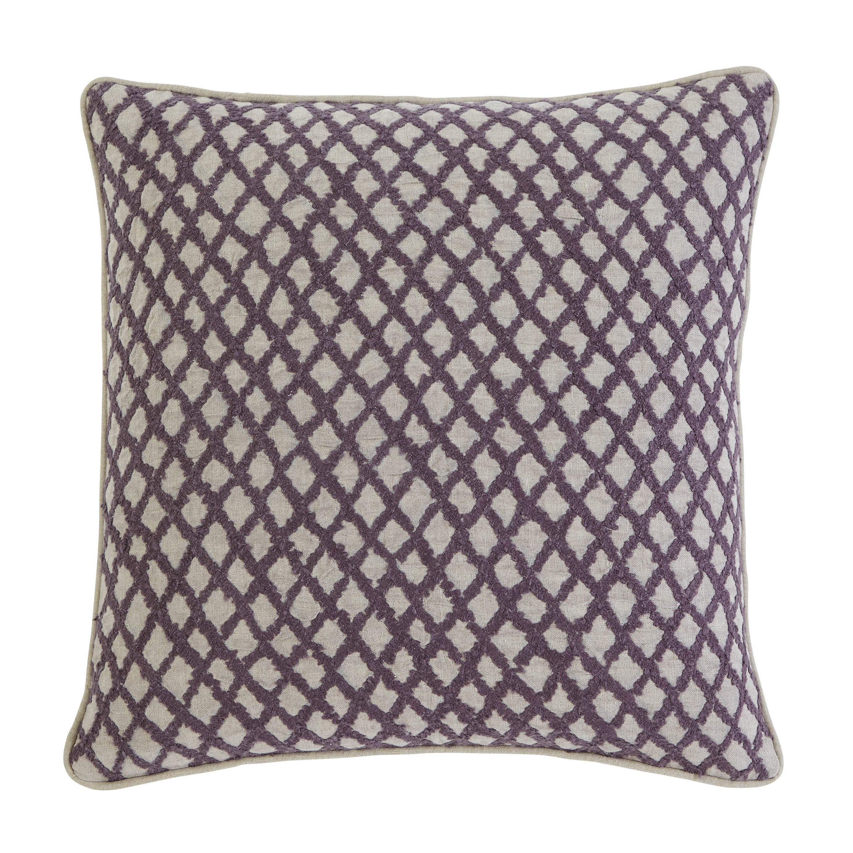 Ashley Stitched Plum 20-inch Pillow Cover (Purple), Size ...
