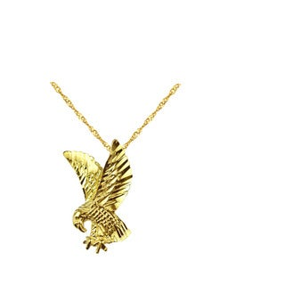 10k Yellow Gold American Eagle Pendant