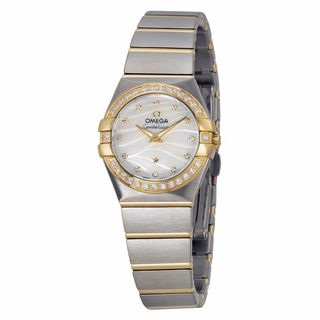 Omega Women's 12325246055011 Constellation White MOP Watch