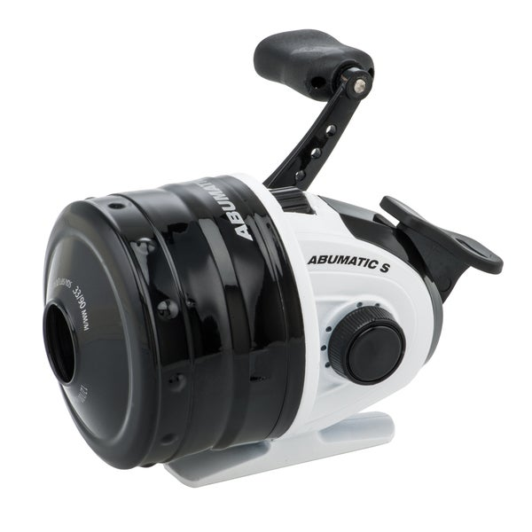 Abu Garcia Abumatic S Spincast Reel 15 4.3:1 Gear Ratio 2 Bearings 8 lb Max Drag Ambidextrous Clam Package