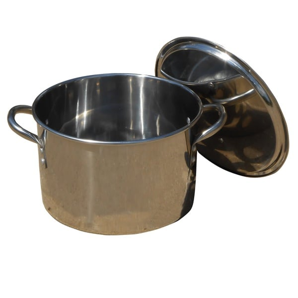King Kooker Polished Stainless Steel Pot with Lid
