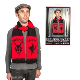 Krampus Scarf Soft Knit Acrylic Holiday Christmas Grump Child Adult Red