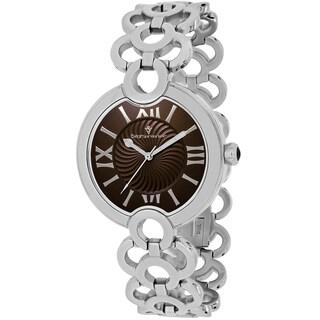 Christian Van Sant Women's CV2813 Twirl Round Silvertone Stainless Steel Bracelet Watch