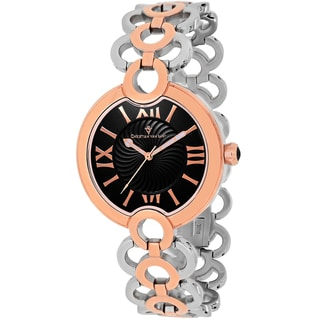Christian Van Sant Women's CV2815 Twirl Round Two-tone Stainless Steel Bracelet Watch