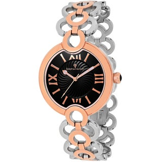 Christian Van Sant Women's CV2815 Twirl Round Two-tone Stainless Steel Bracelet Watch