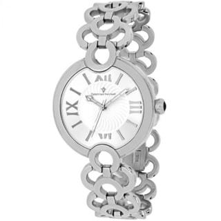 Christian Van Sant Women's CV2810 Twirl Round Silvertone Stainless Steel Bracelet Watch