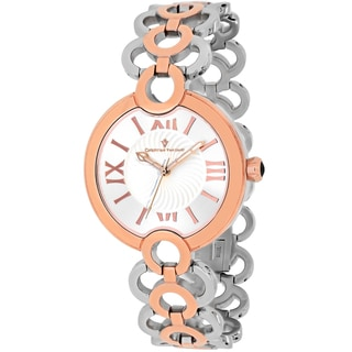 Christian Van Sant Women's CV2814 Twirl Round Two-tone Stainless Steel Bracelet Watch