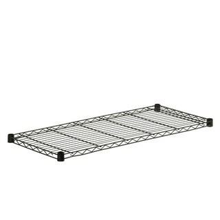 Honey Can Do steel shelf- 250 lbs black 16x36