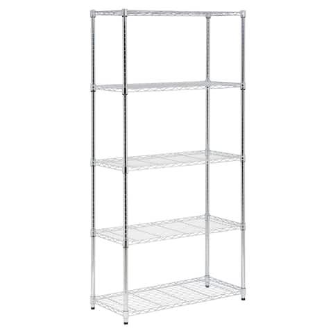 Honey-Can-Do 5-tier chrome storage shelves 350 lbs
