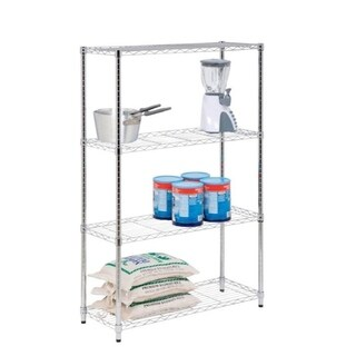 4-tier chrome shelving unit - 250 lbs