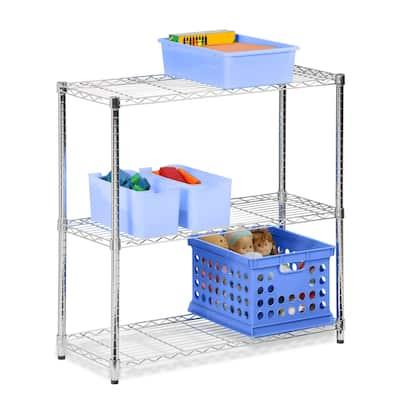 Honey-Can-Do 3-tier chrome shelving unit - 250 lbs