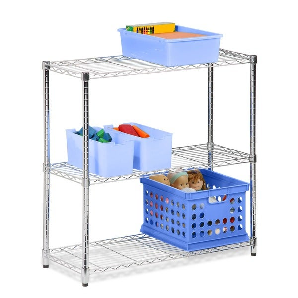 Honey-Can-Do 3-tier chrome shelving unit - 250 lbs