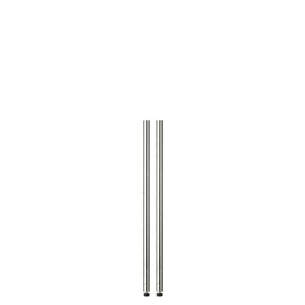 Honey-Can-Do 36in chrome pole with leg levelers - 2-pack
