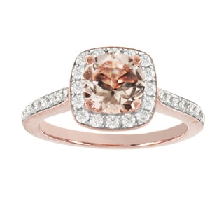 H Star 14k Rose Gold 1ct Morganite Center and 5/8ct TDW Diamond Engagement Ring (I-J, I2-I3)