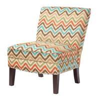 Madison Park Alex Curved Back Slipper Chair--Orange