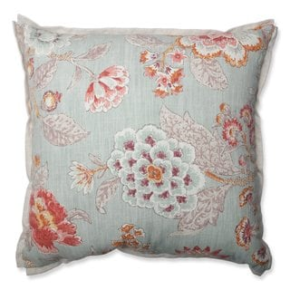 Pillow Perfect Room With A View Cerulean Throw Pillow (Medium - 18 x 18)